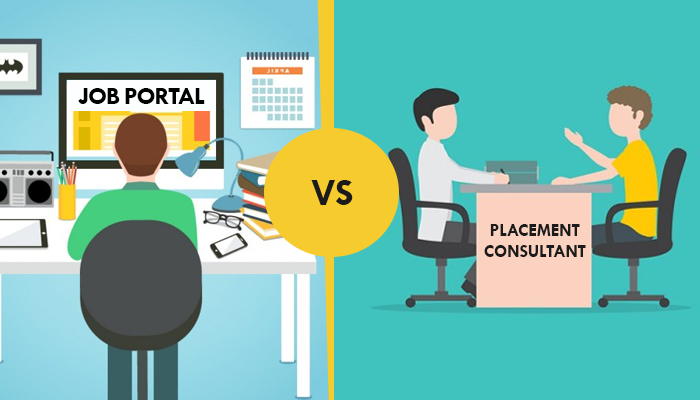 financial value analysis job portal vs placement consultant from
